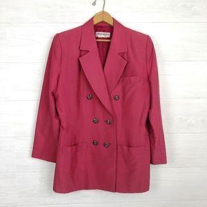 Vintage Yves Saint Laurent Silk Blazer Size 42 10